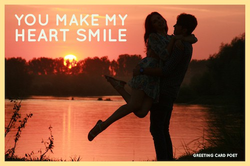 You make my heart smile meme