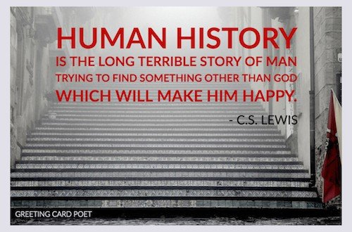 Human history quotation image