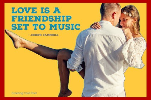 Love is a friendship set to music meme