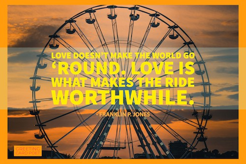 Love makes the ride worthwhile image