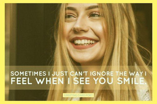 When I see you smile image