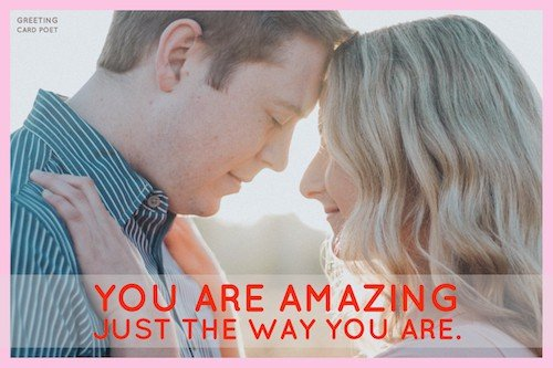 You Are Amazing Love Message Image