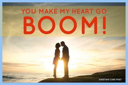 You make my heart go BOOM image