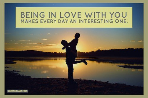 being in love quote image