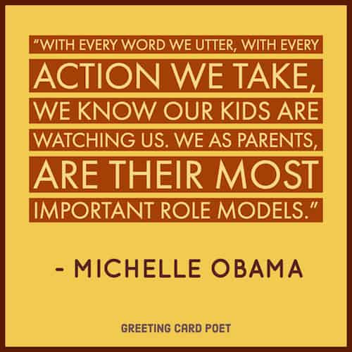 Michelle Obama on Parents' being role models image