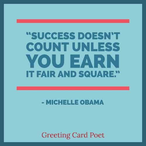 Michelle Obama on success quote image