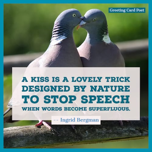 A kiss is a lovely trick quote image