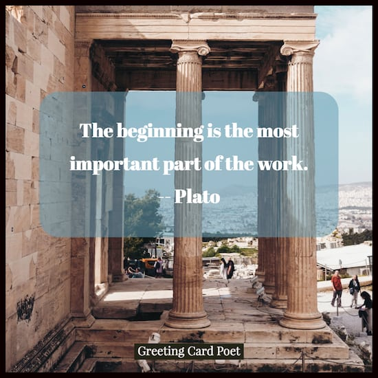 Plato on the importance of the beginning image