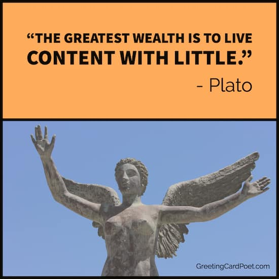 Plato saying on wealth image