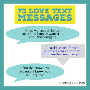 love text messages button