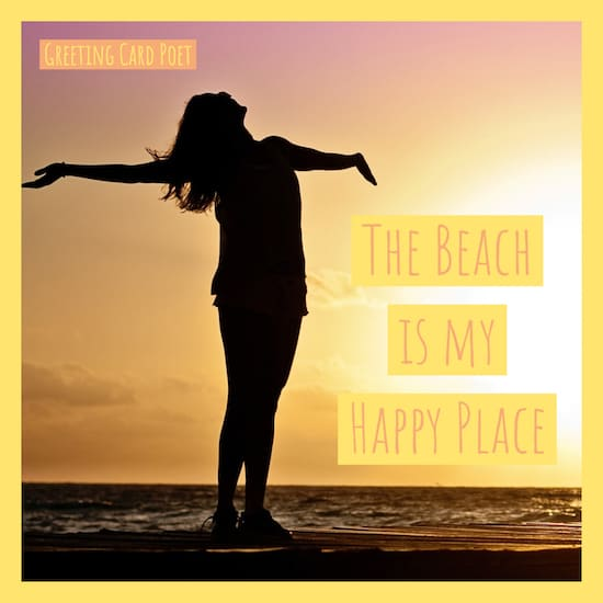 Beach is my happy place meme