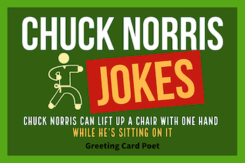 Churck Norris jokes button image