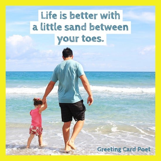 Life is better with a little sand between the toes image