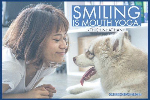 Smiling is mouth yoga image