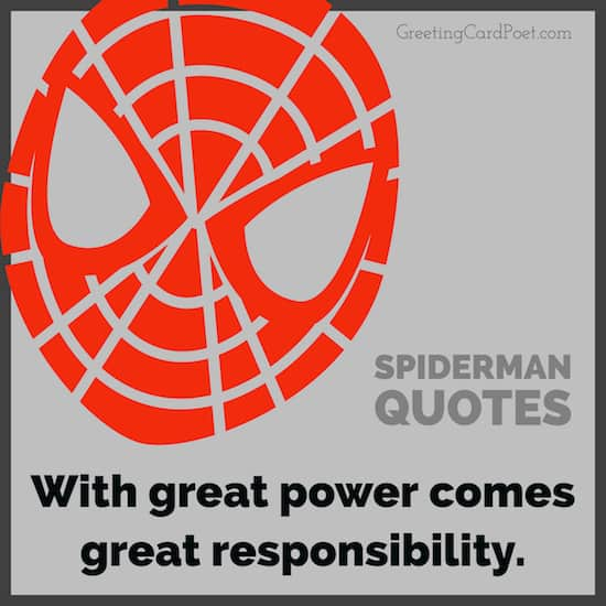 Spiderman sayings image