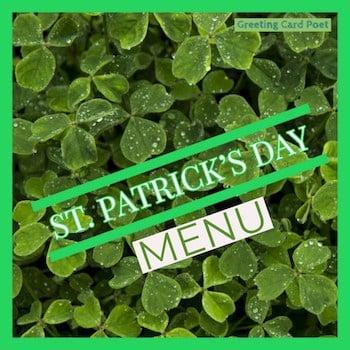 St Patrick's Day Menu button image