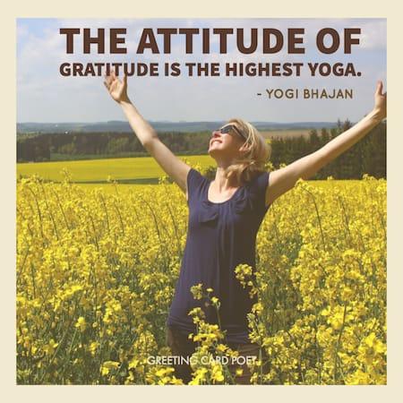 The attitude of gratitude meme