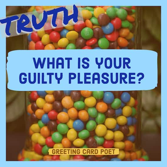 What is your guilty pleasure question image