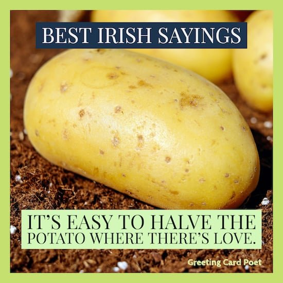 good Irish saying image