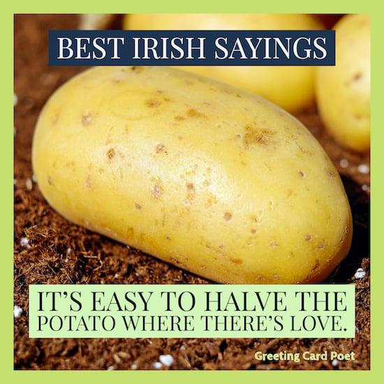good Irish saying image