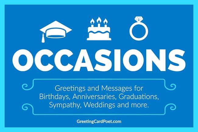 occasions menu image