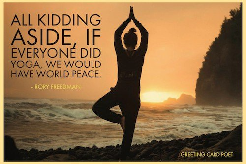 yoga and world peace quotation image