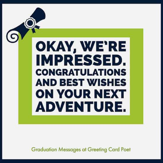 Congrats grad messages image