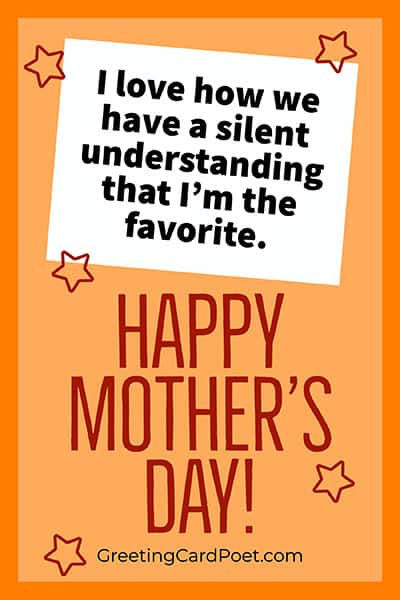 Funny Mother's Day saying image