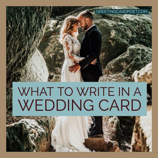 What to write in a wedding card image