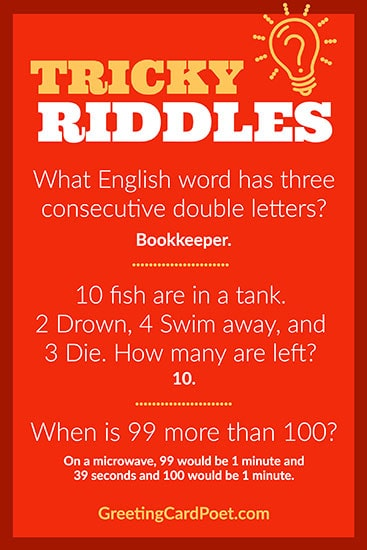 Short hard riddles image