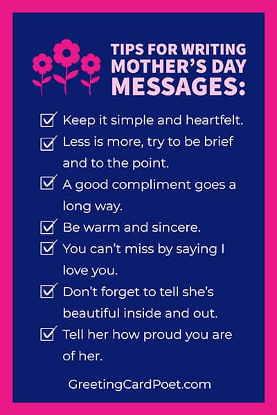 Tips for writing Mother's Day messages image