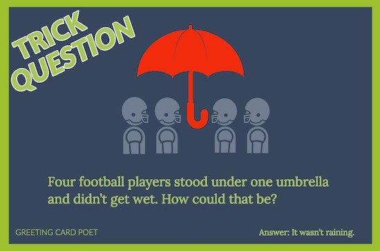 4 football players brain teaser image