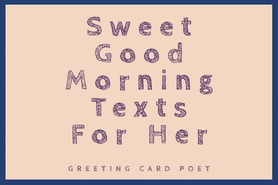 A text sending goodmorning Good Morning