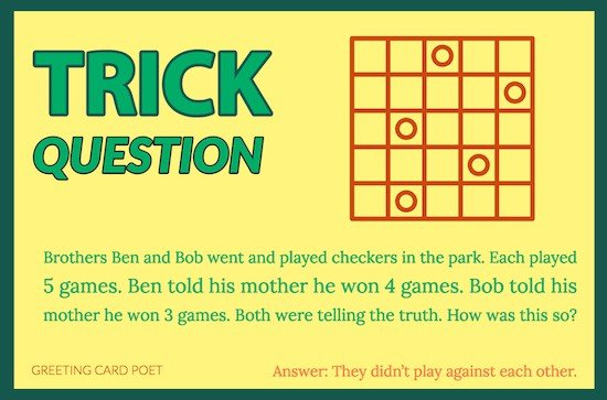 101 Trick Questions Baffle And Bewilder The Best Minds Answers Too