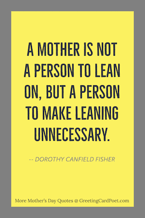 Fisher quote for Mothers image