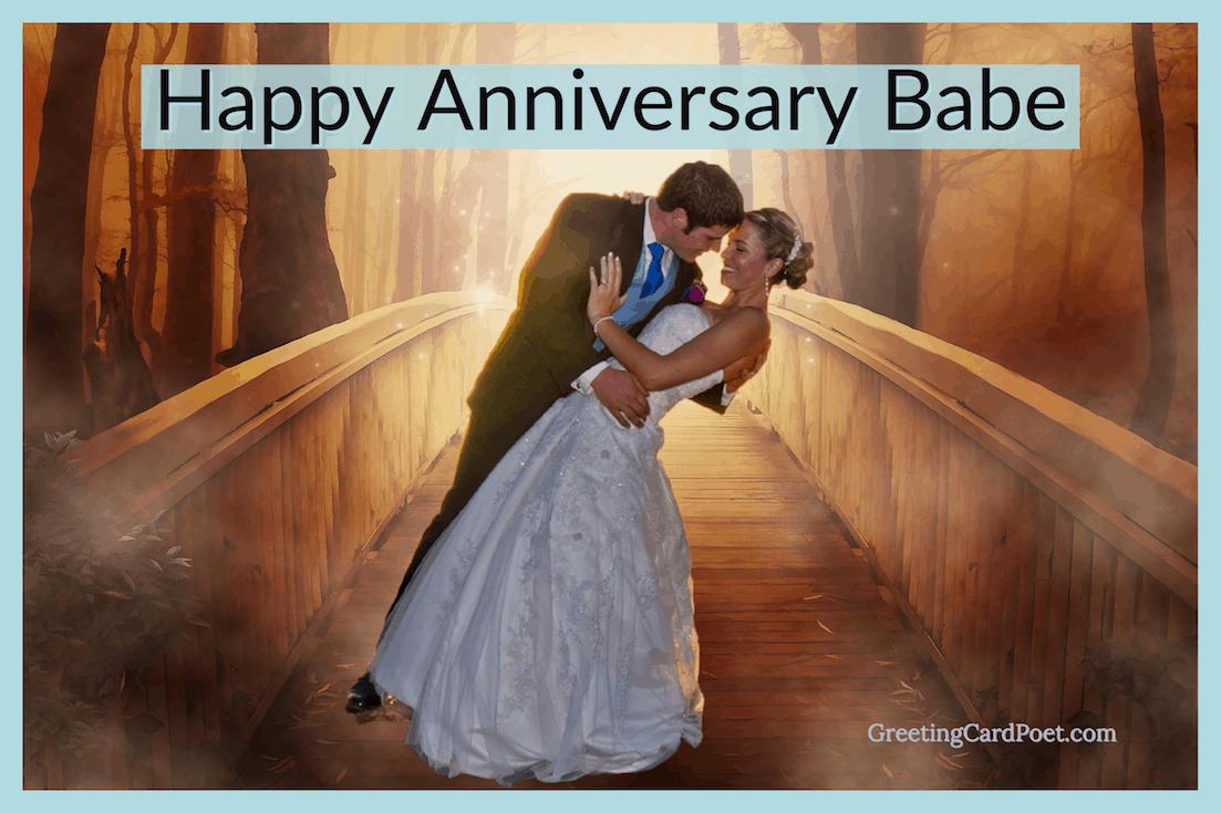 Happy Anniversary Babe image