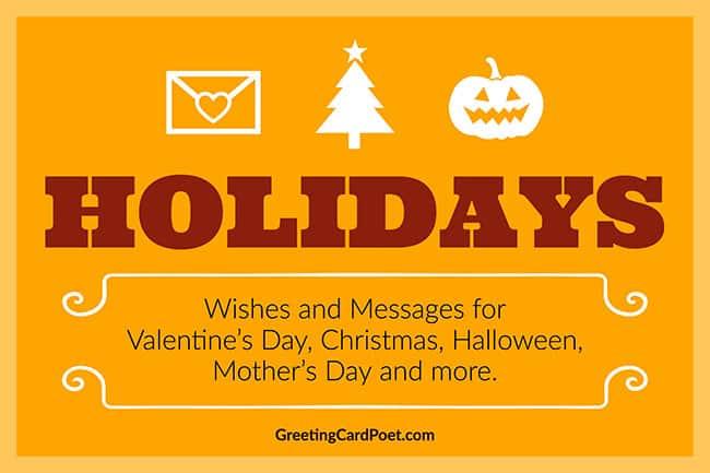 Holidays menu image