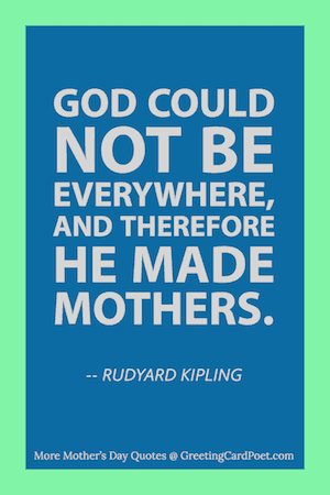 Kipling quote on God and Mothers image