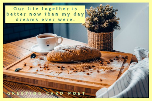Our life together text image