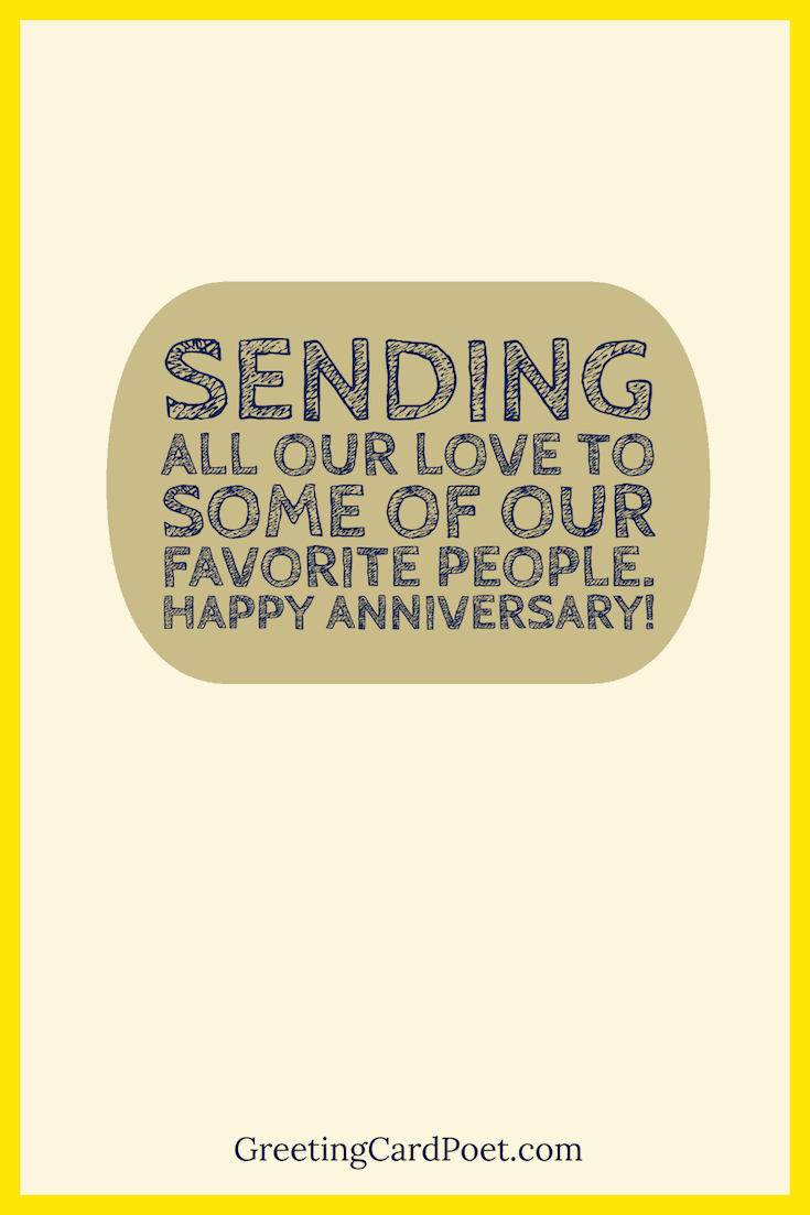 Sending All of Our Love anniversary message image
