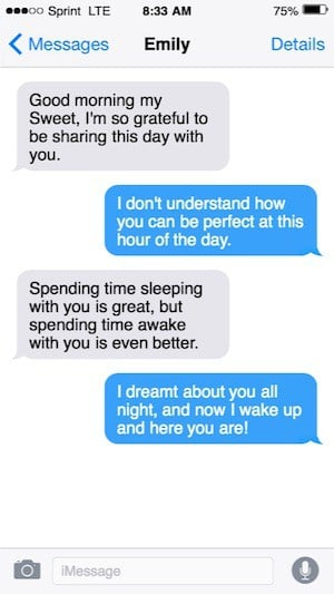 Text messages to start your day image