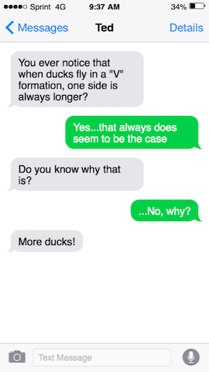 Duck joke text image
