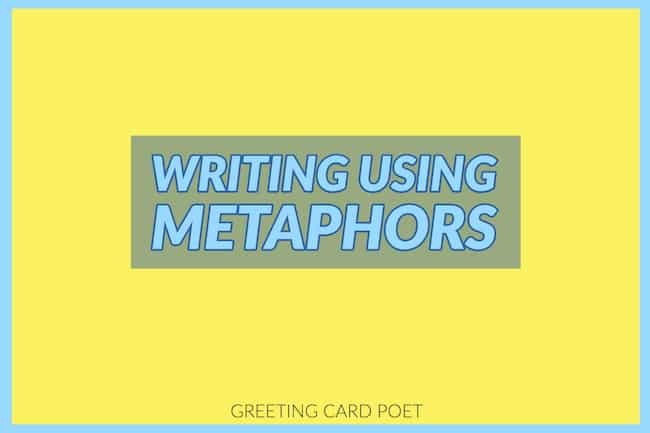 Writing using metaphor image