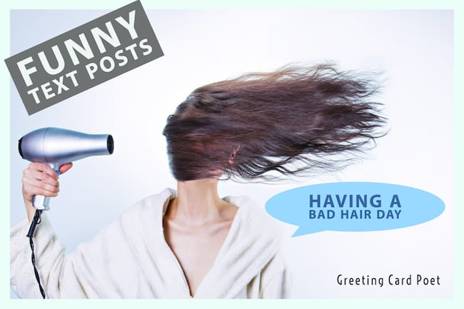 bad hair day text image