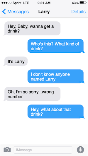 what about that drink text message image