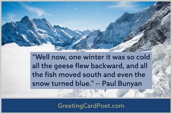Paul Bunyan over the top image