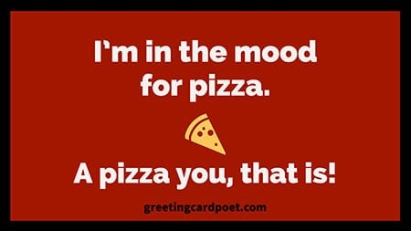 Pizza pick up line image