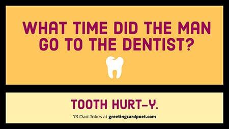 dentist dad joke image