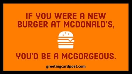 If you were a new burger at McDonalds image