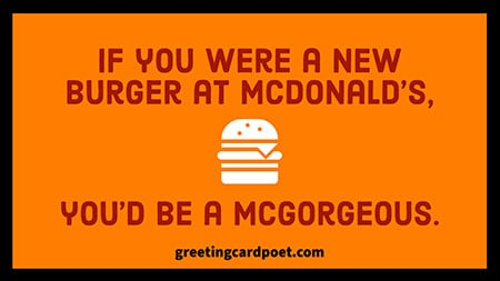 McGorgeous pick up line image